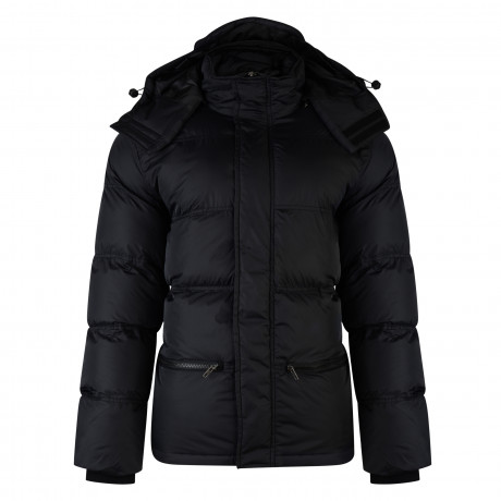 French Connection Hooded Padded Puffer Jacket Black | Jean Scene