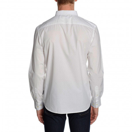 French Connection Pyramid Long Sleeve Shirt White | Jean Scene