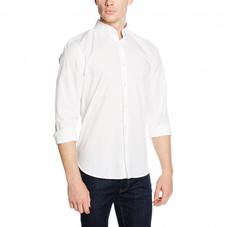 French Connection Plain Long Sleeve Shirt White | Jean Scene