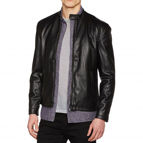 French Connection  PU Faux Leather Biker Jacket Black | Jean Scene