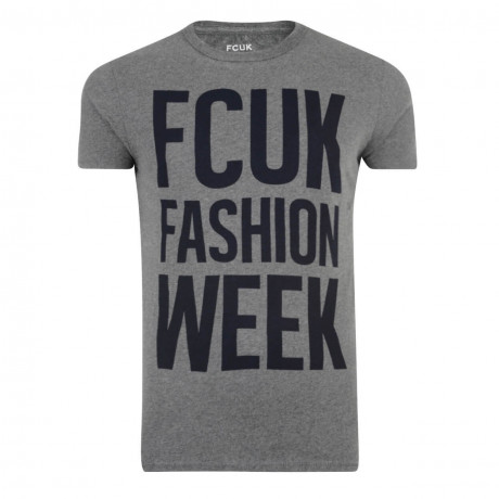 French Connection FCUK FASHION WEEK T-shirt Charcoal Image