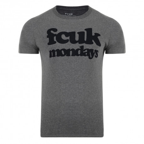 French Connection FCUK MONDAYS T-shirt Charcoal Image