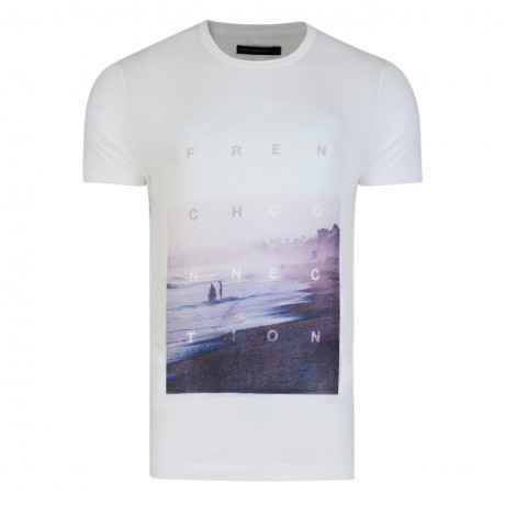 French Connection Sundown Beach T-shirt White