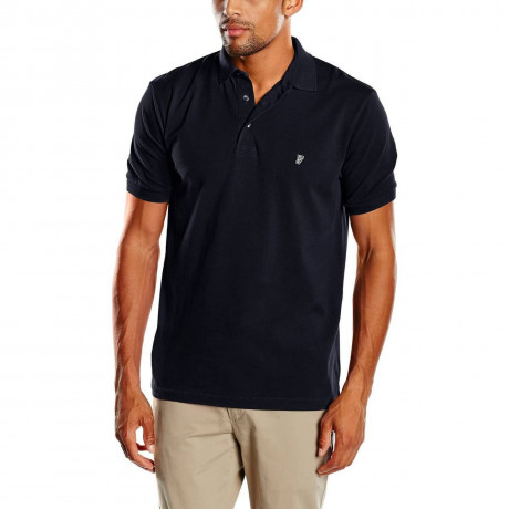 French Connection Plain 'F' Men's Polo Shirt Marine Blue