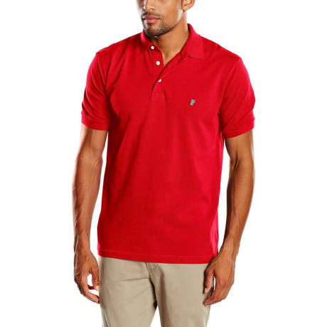 French Connection Plain 'F' Men's Polo Shirt Poster Red