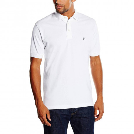 French Connection Plain 'F' Men's Polo Shirt White
