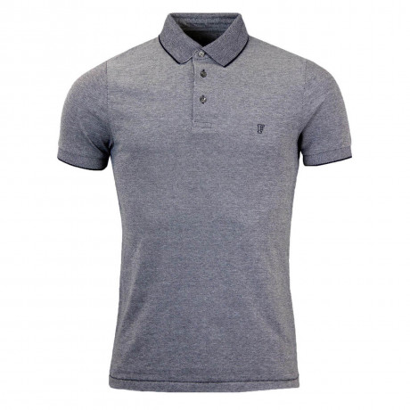 French Connection Summer Oxford Collar Polo Shirt Marine Blue