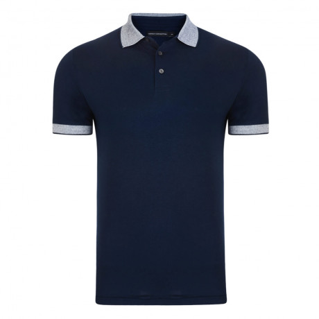 French Connection Summer Oxford Collar Polo Shirt Navy Blue