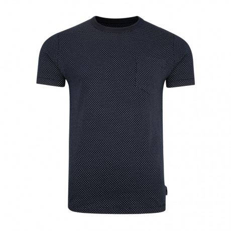 French Connection Dunite Dot Summer T-shirt Marine Blue | Jean Scene
