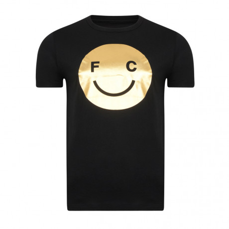 French Connection Acid Fcuk Summer T-shirt Black Gold Foil | Jean Scene
