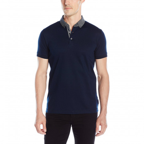 French Connection Cotton F Polo Pique T-Shirt Mrnebl/Geotile/Sprig | Jean Scene