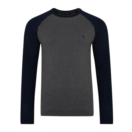 French Connection Winter Varsity Summer T-shirt Charcoal Melange | Jean Scene