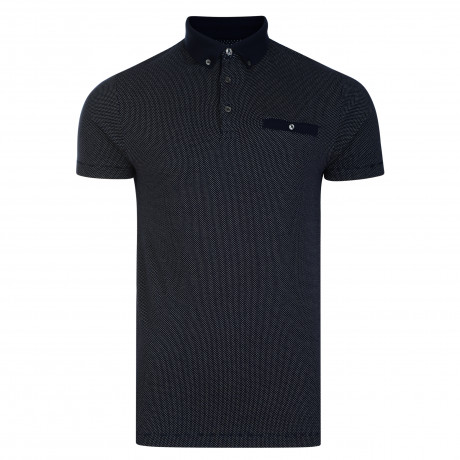 French Connection Summer Dot Ditsy Polo Pique T-Shirt Marine | Jean Scene