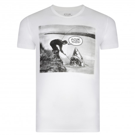 French Connection CATCH OF THE DAY Print Summer T-shirt White | Jean Scene