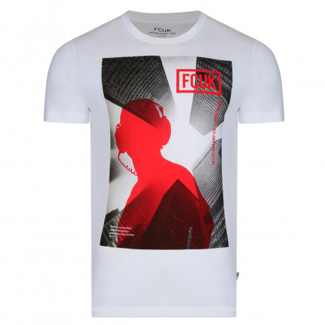 French Connection Skyline FCUK T-shirt White | Jean Scene