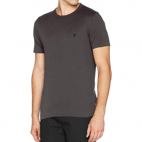 French Connection Crew Neck Short Sleeve T-Shirt Short Sleeve Charcoal | Jean Scene