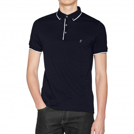 French Connection Polo Shirt Marine Blue | Jean Scene