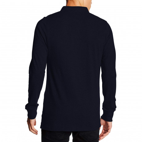 French Connection Brunswick Polo Shirt Marine/Charcoal Mel | Jean Scene