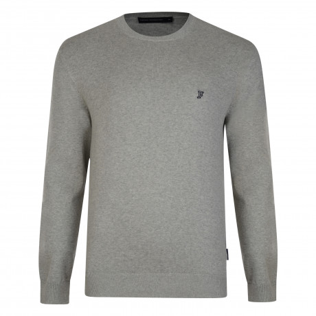 French Connection Crew Neck Cotton Jumper Grey | Jean Scene