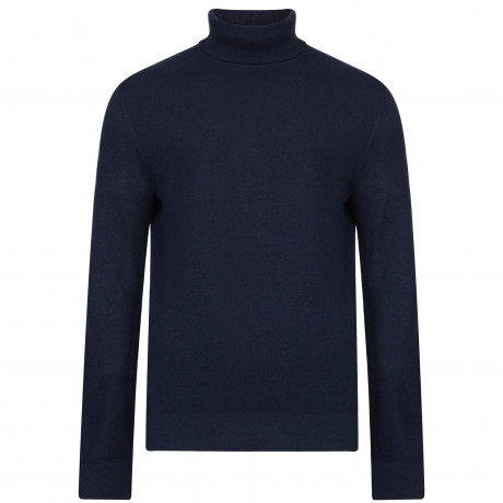 French Connection Roll Neck Wool Blend Jumper Marine Blue | Jean Scene