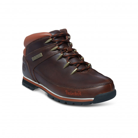 Timberland Mens Euro Sprint Leather High Boots Boots Dark Brown | Jean Scene