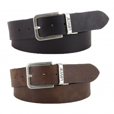 Levis Metal Buckle Reversible Leather Belt Brown | Jean Scene