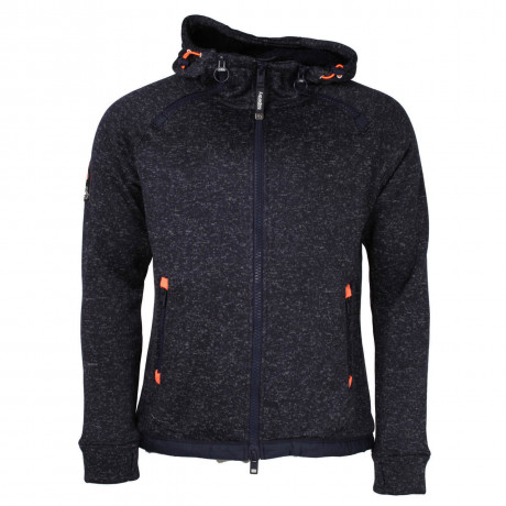 Superdry Men's Storm Side Winder Zip Hoodie Navy Blizzard
