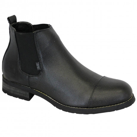 Rock & Religion Synthetic Hendrix Chelsea Boots Black
