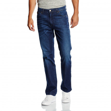 Wrangler Texas Stretch Denim Jeans Still Water Blue | Jean Scene