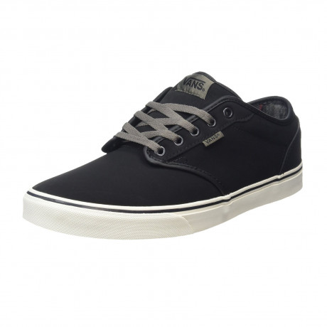 Vans Men's Atwood All Weather Suede Leather Shoes Flannel Black | Jean Scene