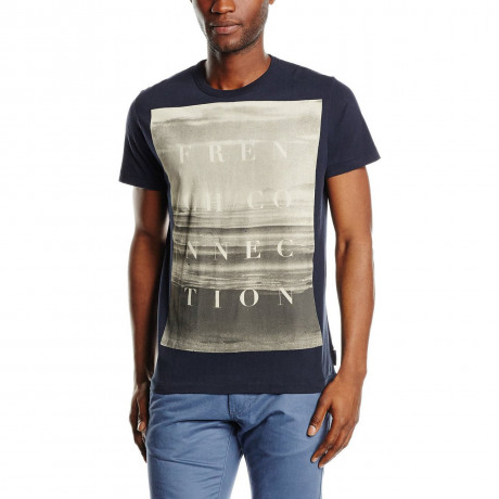French Connection Sundown Beach T-shirt Marine Blue