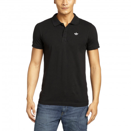 adidas Originals Polo Shirt Black | Jean Scene