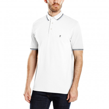 French Connection Polo Pique T-Shirt White Image