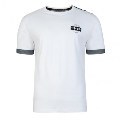 Firetrap Crew Neck Brimley Plain T-shirt White