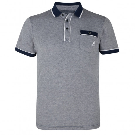 Kangol Polo Pique T-Shirt Navy Blue Marl Image