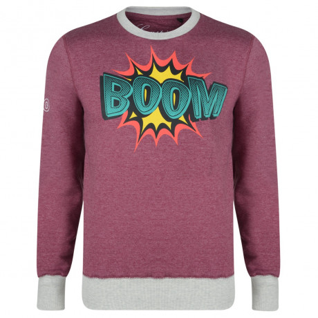 Conspiracy Comic Print BOOM Sweatshirt Red Image