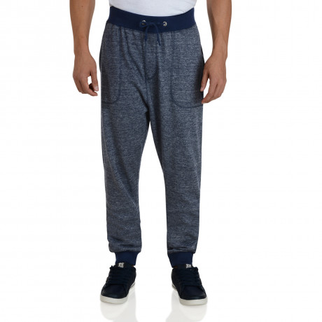 Soul Star Fleece Sweat Pants Navy Blue Bottoms Image