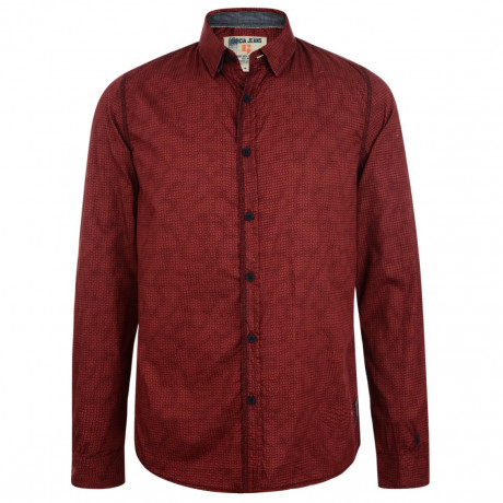Garcia Jeans Long Sleeve Pattern Shirt Radish Red Image