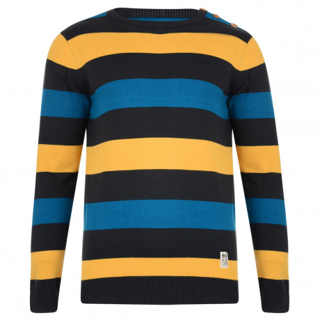 Crosshatch Crew Neck Stripe Jumper Katter Ashphalt Image