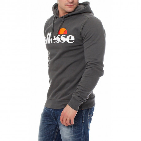 Ellesse Men's Bino Overhead Hoodie Dark Shadow