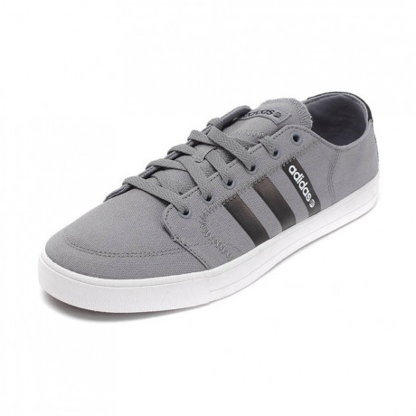 adidas Vlneo Bball Canvas Trainers Grey Image