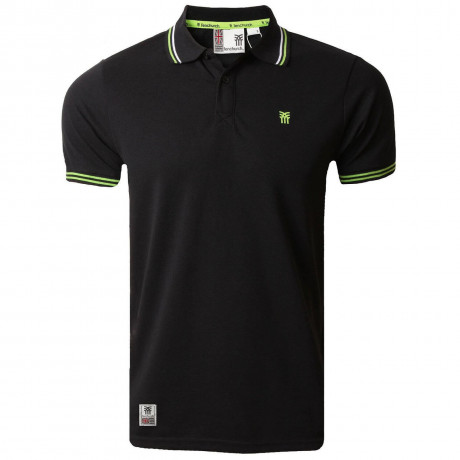 Fenchurch Men's Blackwall Polo Shirt Anthracite Black
