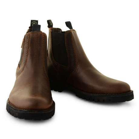 Wrangler Leather Grinder Chelsea Boots Dark Brown