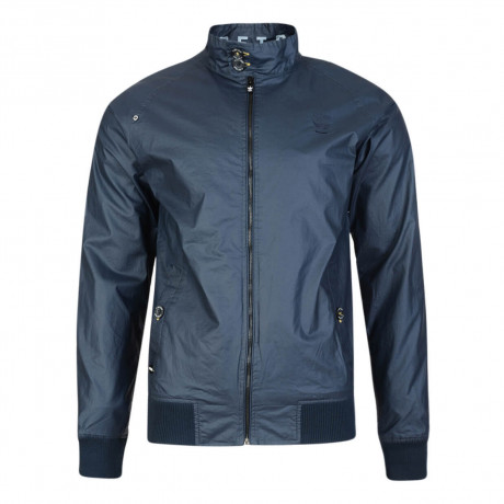 Firetrap Men's Goswell Cotton Harrington Field Jacket Midnight