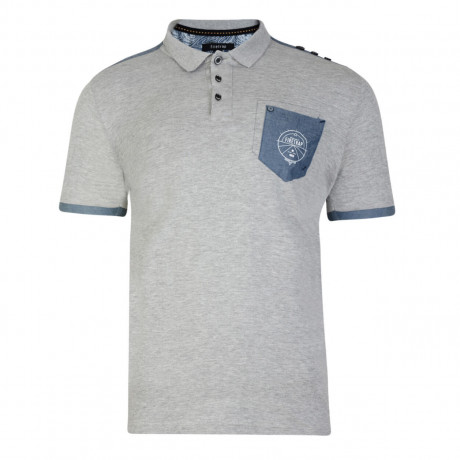 Firetrap Men's Polo Shirt Heaton Grey Marl