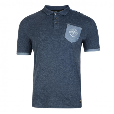 Firetrap Men's Polo Shirt Heaton Navy Marl