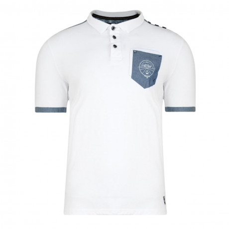 Firetrap Men's Polo Shirt Heaton White Marl
