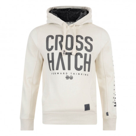 Crosshatch Jackle Fur Hoodie Vaporous Grey
