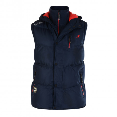 Kangol Men's Barett Padded Puffer Body Warmer Gilet Navy Blue