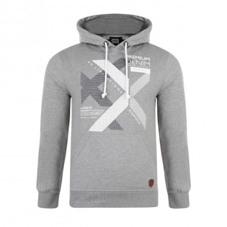 Smith & Jones Kingsnorth Hoodie Mid Grey Marl